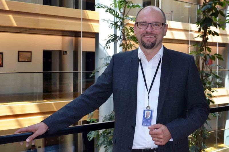 Richard Sulík počas plenárneho zasadnutia vŠtrasburgu - 2015.