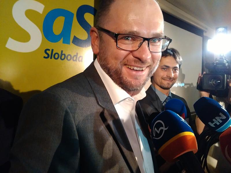Richard Sulík - Volebná noc 2016.
