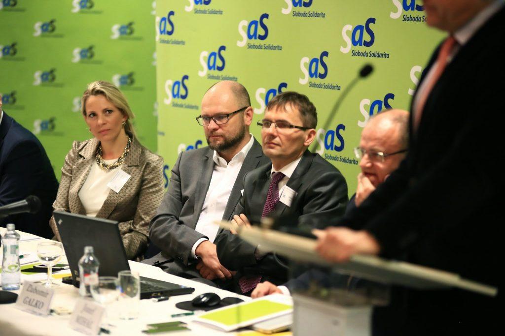 Tlačová konferencia - Richard Sulík, Jana Kiššová, Ľubomír Galko a Jozef Mihál.