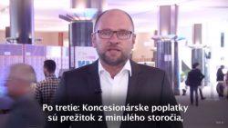 Koncesionárske poplatky sú prežitok z minulého storočia | Videokomentár