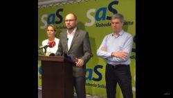 Béla Bugár v centrále SaS – Na rokovanie so Smerom nejdeme