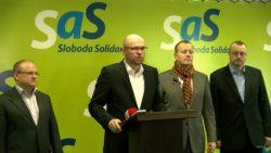 Boris Kollár v centrále SaS | Sme ochotní ísť do koalície, ministerstvá nechceme