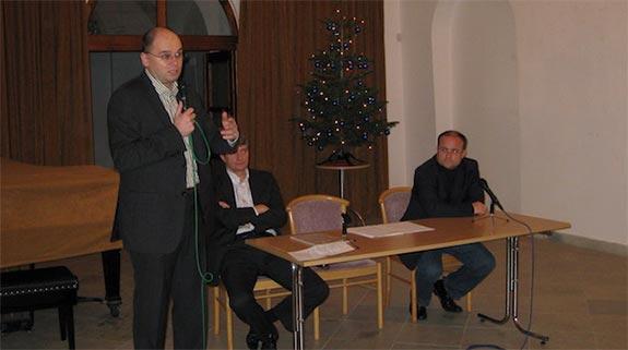 Richard Sulík medzi členmi strany SaS 2008
