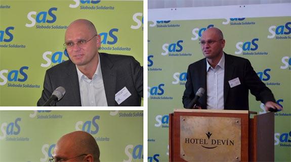 Richard Sulík medzi členmi strany SaS 2009