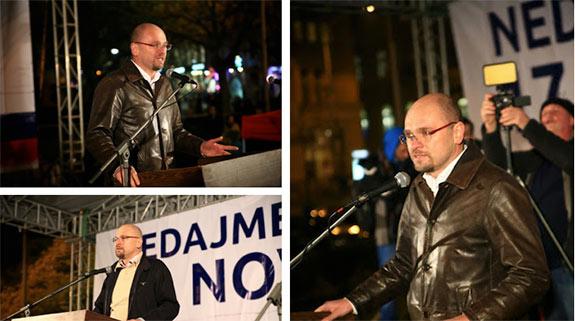 Richard Sulík medzi členmi strany SaS 2013