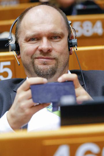 Richard Sulík, oficiálna fotografia pri prevzatí mandátu, Európsky parlament