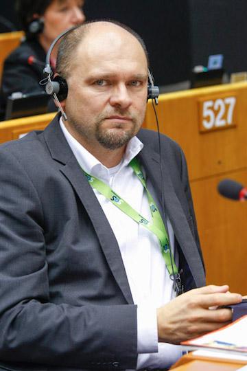 Richard Sulík počas plenárneho zasadnutia vŠtrasburgu, Europarlament, 12.11.2014