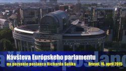 Pozvanie do Európskeho parlamentu v Bruseli prijalo od Richarda Sulíka 48 návštevníkov