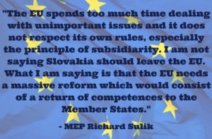 MEP Richard Sulik - EU needs reform