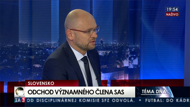 Odchod - Jozef Mihál SaS | Sulík na TA3