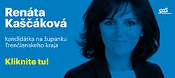 Župné voľby Trenčín 2017 - Renáta Kaščáková kandidát na župana