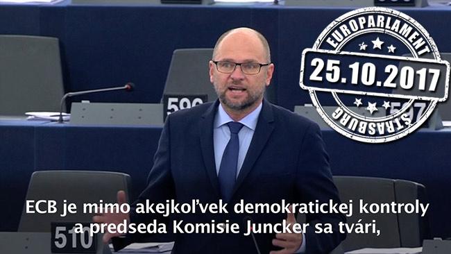 Hospodárska politika eurozóny a ECB - Richard Sulík