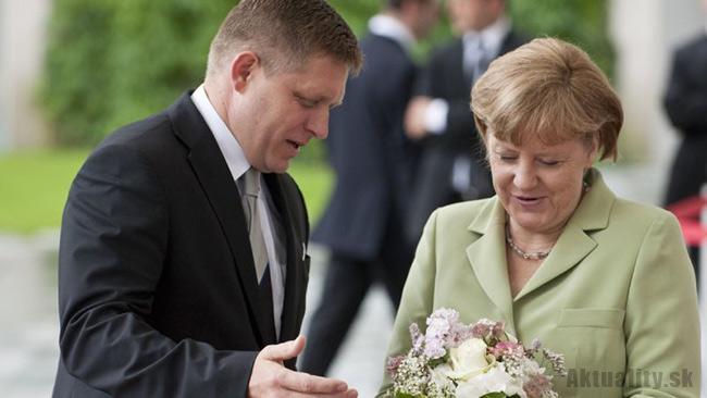 Robert Fico s Angelou Merkelovou