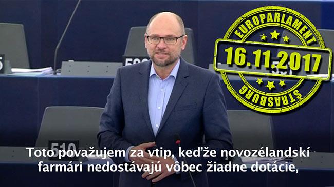 Dohoda medzi EÚ aNovým Zélandom - Richard Sulík, Štrasburg