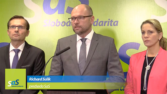 Voľby do VÚC 2017 - Richard Sulík, SaS
