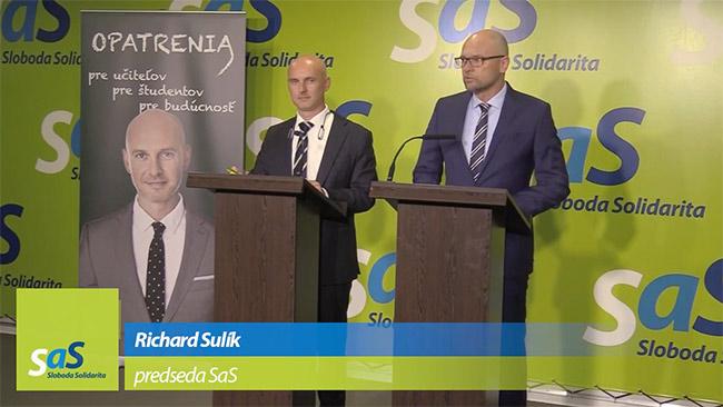 Reforma školstva SaS - Richard Sulík a Branislav Gröhling