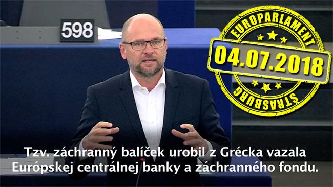 Tretí záchranný balík pre Grécko - Richard Sulík
