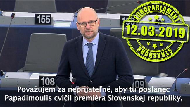 Premiér Peter Pellegrini - europarlament Richard Sulík